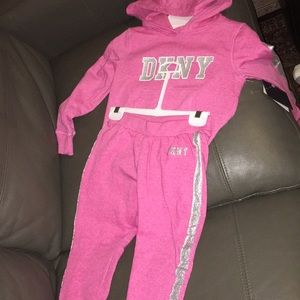 DKNY Pink and Sliver Sweat Suit